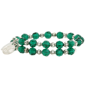 Wind & Fire Emerald Crystal Wrap Bracelet