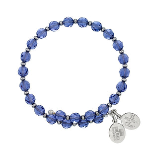 Wind & Fire Tanzanite Crystal Wrap Bracelet