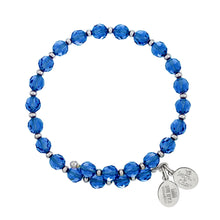 Load image into Gallery viewer, Capri Blue Crystal Wrap Bracelet