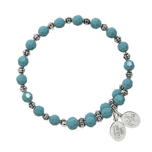 Load image into Gallery viewer, Wind & Fire Turquoise Crystal Wrap Bracelet