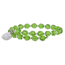 Load image into Gallery viewer, Wind & Fire Peridot Crystal Wrap Bracelet