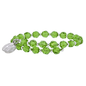 Wind & Fire Peridot Crystal Wrap Bracelet