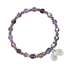 Load image into Gallery viewer, Wind & Fire Purple Passion Crystal Bead Wrap