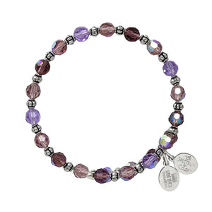 Wind & Fire Purple Passion Crystal Bead Wrap