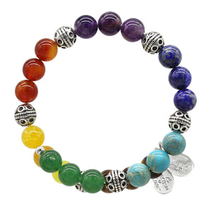 Wind & Fire Chakra Natural Bead Wrap