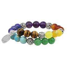 Load image into Gallery viewer, Wind & Fire Chakra Natural Bead Wrap