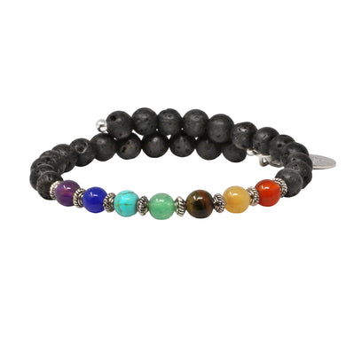 Wind & Fire Chakra Lava Wrap, 6mm