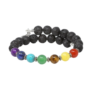 Wind & Fire Chakra Lava Wrap, 8mm
