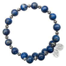 Load image into Gallery viewer, Wind & Fire Lapis Bead Wrap, 8mm
