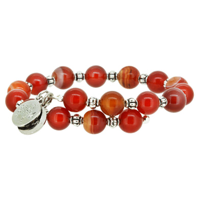 Wind & Fire Amber Agate Wrap, 8mm