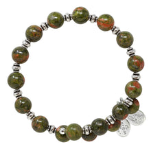 Load image into Gallery viewer, Wind & Fire Unakite Wrap, 8mm