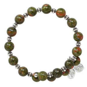 Wind & Fire Unakite Wrap, 8mm