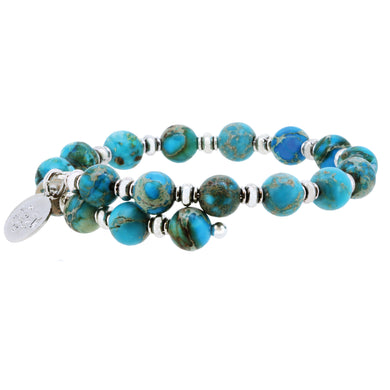 Wind & Fire Turquoise Imperial Jasper Wrap, 8mm