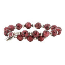 Load image into Gallery viewer, Wind & Fire Rhodonite Wrap, 8mm