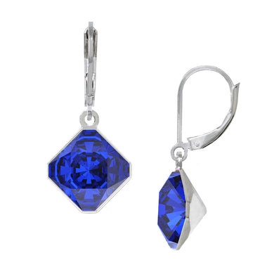 Wind & Fire September/Majestic Blue 10mm Diamond-Shape Leverback Earrings