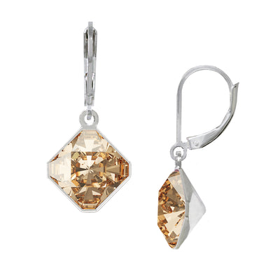 Wind & Fire November/Golden Shadow 10mm Diamond-Shape Leverback Earrings