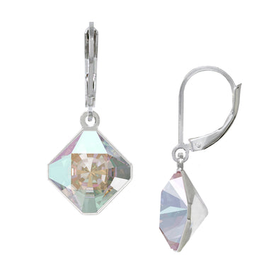 Wind & Fire Wind/Aurora Borealis 10mm Diamond-Shape Leverback Earrings