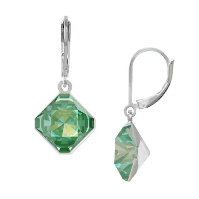 Wind & Fire August/Greenery 10mm Diamond-Shape Leverback Earrings