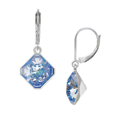 Wind & Fire Glacier/Ocean 10mm Diamond-Shape Leverback Earrings