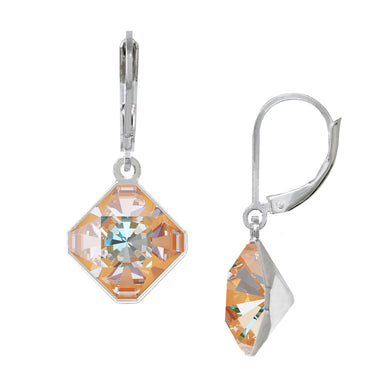 Wind & Fire Peachy 10mm Diamond-Shape Leverback Earrings
