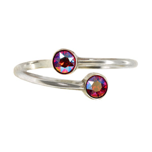 Wind & Fire July Birthstone Sterling Silver Ring Wrap