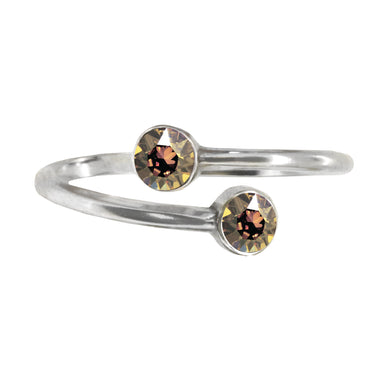Wind & Fire November Birthstone Sterling Silver Ring Wrap