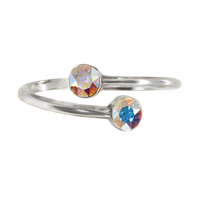 Wind & Fire WIND Earth's Elements Sterling Silver Ring Wrap