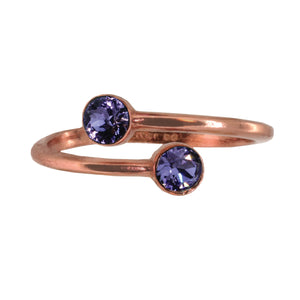 Wind & Fire TANZANITE Sterling Silver Ring Wrap