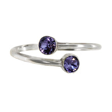 Load image into Gallery viewer, Wind & Fire TANZANITE Sterling Silver Ring Wrap