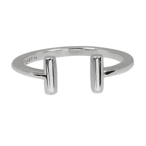 Wind & Fire T Bar Sterling Silver Ring Wrap