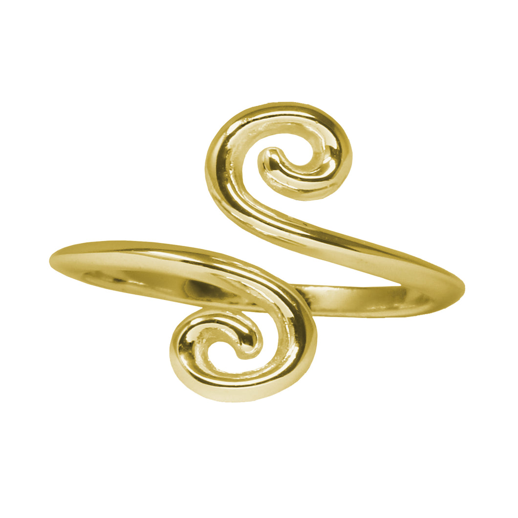 Wind & Fire Swirls Sterling Silver Ring Wrap