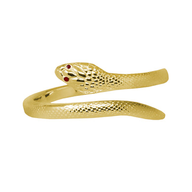 Wind & Fire Snake Sterling Silver Ring Wrap