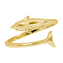 Load image into Gallery viewer, Wind & Fire Dolphin Sterling Silver Ring Wrap