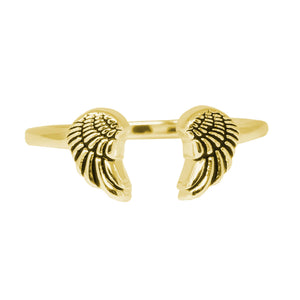 Wind & Fire Angel Wings Sterling Silver Ring Wrap