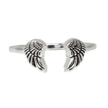 Load image into Gallery viewer, Wind & Fire Angel Wings Sterling Silver Ring Wrap