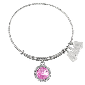 Wind & Fire June Birthstone Sterling Silver Charm Bangle