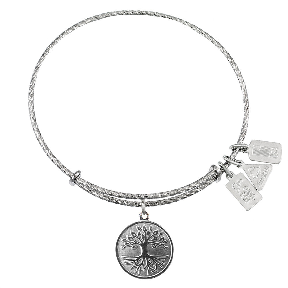 Wind & Fire Tree of Life Sterling Silver Charm Bangle
