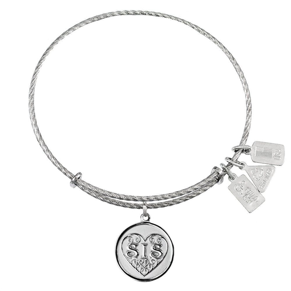 Wind & Fire SIS Sterling Silver Charm Bangle