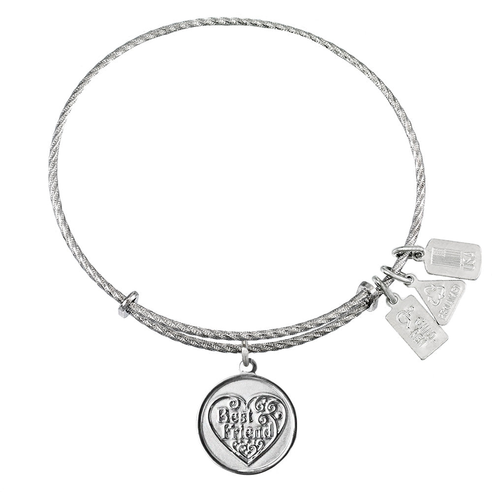 Wind & Fire Best Friend Sterling Silver Charm Bangle