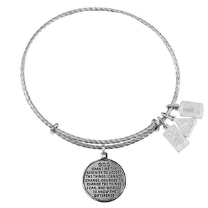 Wind & Fire Serenity Prayer Sterling Silver Charm Bangle