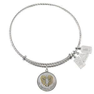 Wind & Fire In My Heart Forever Sterling Silver Charm Bangle