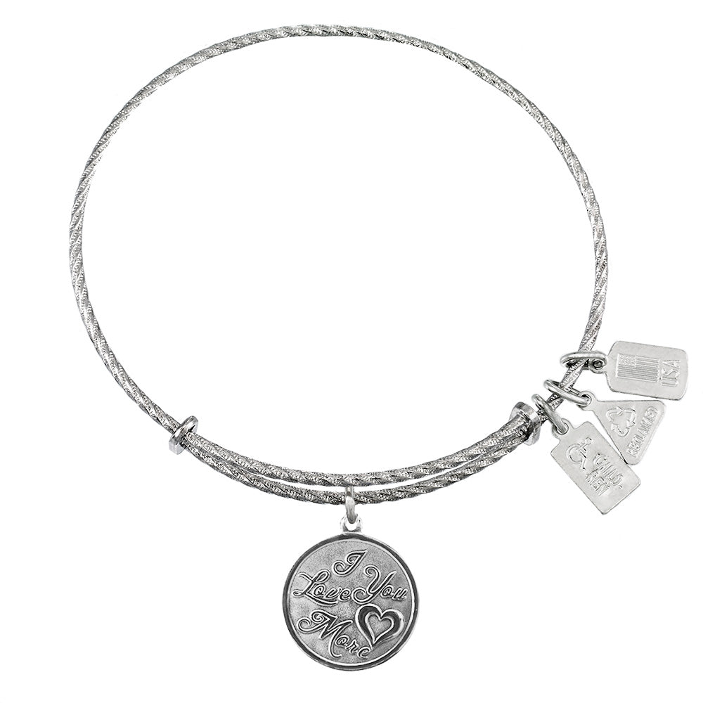 Wind & Fire I Love You More Sterling Silver Charm Bangle