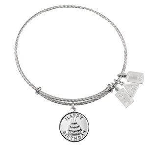 Wind & Fire Happy Birthday Sterling Silver Charm Bangle