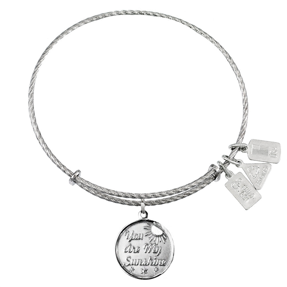 Wind & Fire You Are My Sunshine Sterling Silver Charm Bangle