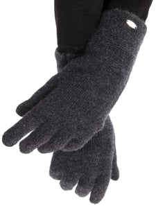 Inari Women's black melange cashmere gloves - 100% high-quality cashmere - Inari-clothing.fi