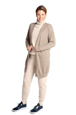 Load image into Gallery viewer, Inari Women's brown cashmere cardigan - front side - 100% high-quality cashmere - Inari-clothing.fi