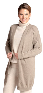 Inari Women's brown cashmere cardigan - front side - 100% high-quality cashmere - Inari-clothing.fi