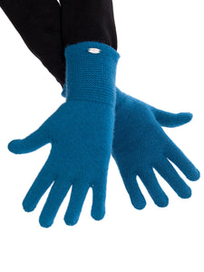 Inari Women's petrol cashmere gloves - 100% high-quality cashmere - Inari-clothing.fi