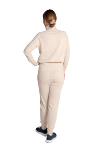 Inari Women's beige cashmere pants - back side - 100% high-quality cashmere - Inari-clothing.fi