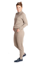 Load image into Gallery viewer, Inari Women's brown cashmere pants - side - 100% high-quality cashmere - Inari-clothing.fi